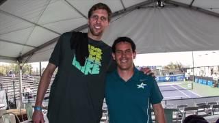 2014 Irving Tennis Classic - Steve Johnson on Dirk Nowitzki