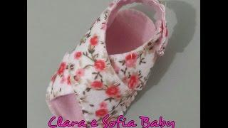 Sandália de Bebê Transpassada em feltro feito a mão