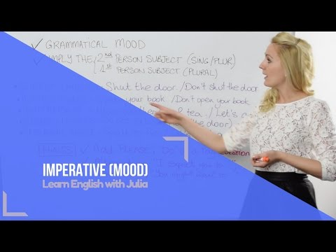 Imperative Mood - Learn English with Julia