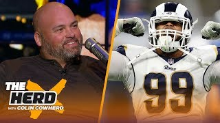 Rams OT Andrew Whitworth talks season success so far & Goff's gift for his son | NFL | THE HERD