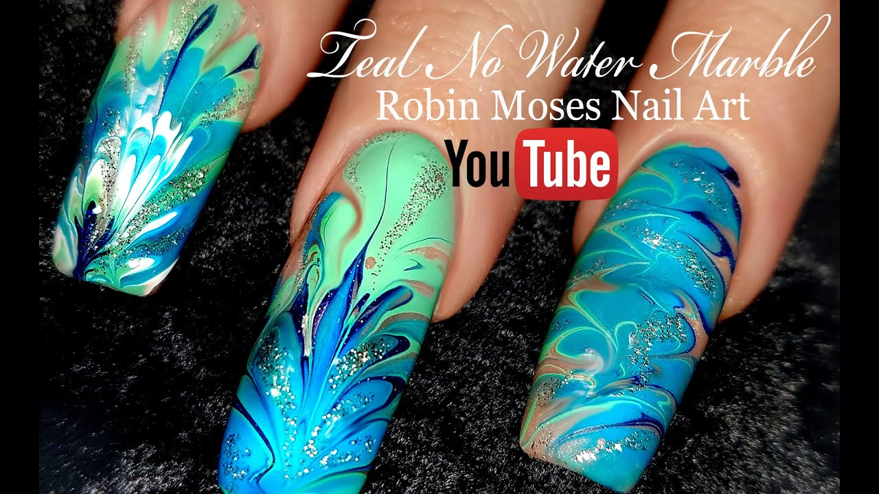 No Water Needed Mint Mani Diva Diy Drag Marble Nail Art