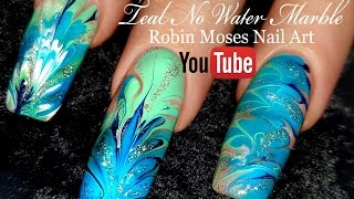 No Water Needed - MINT MANI Diva DIY Drag Marble nail art Tutorial