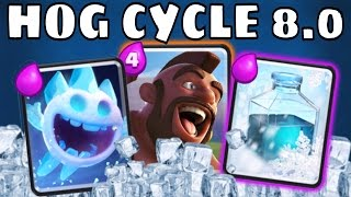 HOG CYCLE 8.0 | FREEZE On LADDER = INSANE! Pro Tips Elecr1fy | Clash Royale