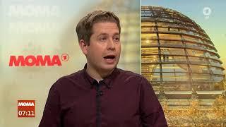 Christiane Meier, ARD Berlin, im Gespräch mit Kevin Kühnert, Bundesvorsitzender Jusos, über di...