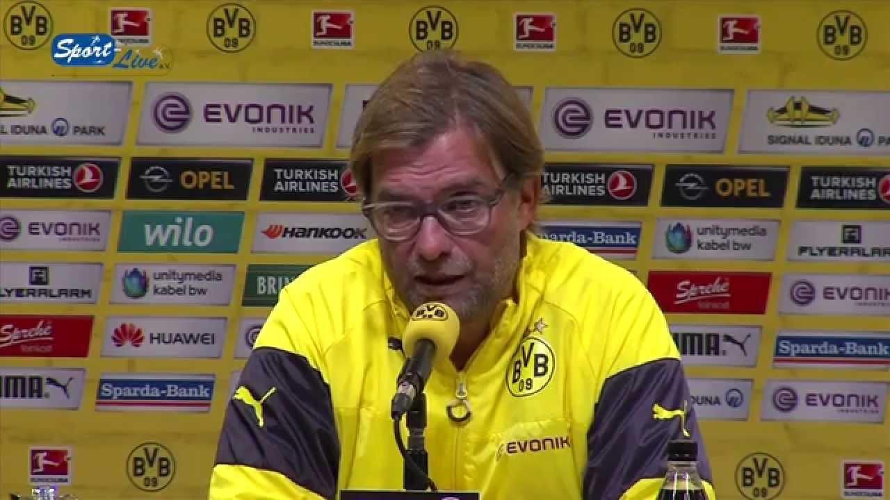 Bundesliga Pressekonferenz : BVB 09 - Bayer 04 Leverkusen