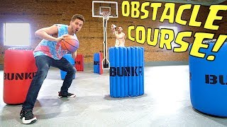 BASKETBALL OBSTACLE COURSE CHALLENGE!