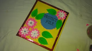 Project File Cover Decoration Project File Decoration File Cover Decoration How To Decorate Project Youtube