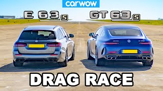 AMG GT S 4-Door vs E63 S: DRAG RACE