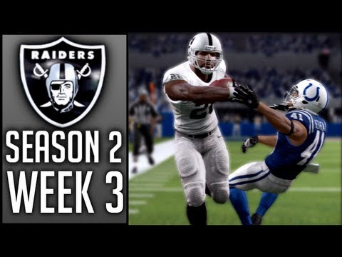 Madden 13 Raiders CCM | Week 3 @ Indianapolis Colts (Season 2)
