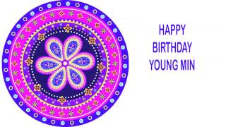 Young Min   Indian Designs - Happy Birthday