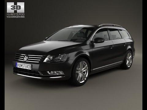 3d model volkswagen passat b7 variant 2011 at. Black Bedroom Furniture Sets. Home Design Ideas