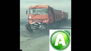 8 автомобилей столкнулись в Костанайской области