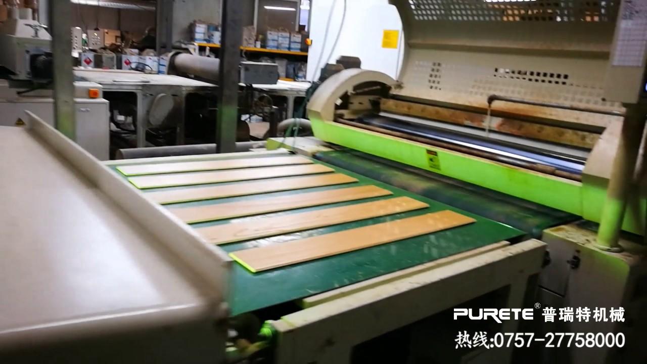 Uv Lacquer Roller Coater Finishing Line For Wood Flooring