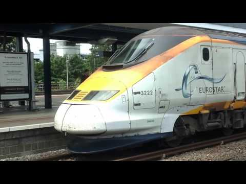 Trains at: Ashford International, HS1, 16/07/16
