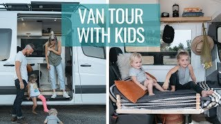 VAN LIFE TOUR: Family of Four DIY Sprinter Van Conversion | Van Life with Kids