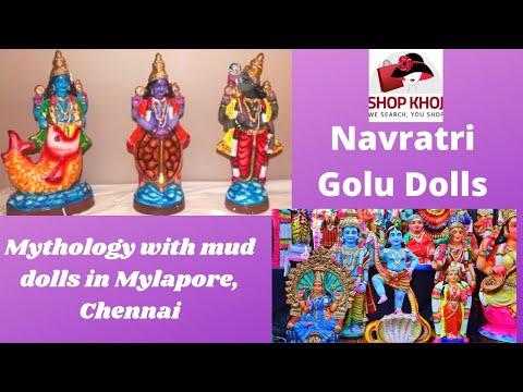 Navratri Golu -Mythology with mud dolls in Mylapore,Chennai