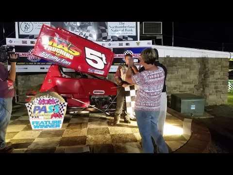 Selinsgrove Speedway 305 Sprint Car Victory Lane 7-05-15