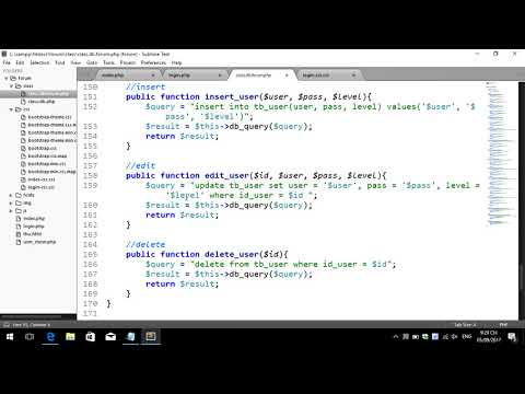 Create Forum Use PHP and Bootstrap Part 38
