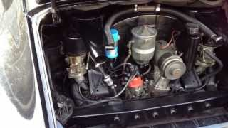 Porsche 912 engine start up.