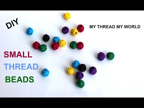 How to Make Small Cotton Thread Beads for Necklace ||DIY|| Easy Techniques Thread Beads Tutorial