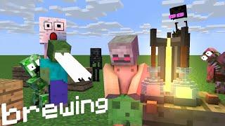- Monster School Brewing Minecraft Animation