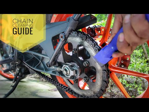 Best way to clean and lube your motorcycle chain