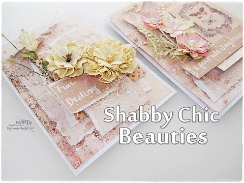Beginners Shabby Chic Cards Tutorial ♡ Maremi's Small Art ♡