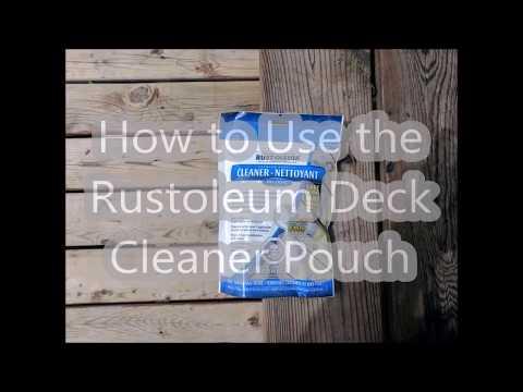Rustoleum Deck Cleaner Pouch Tutorial