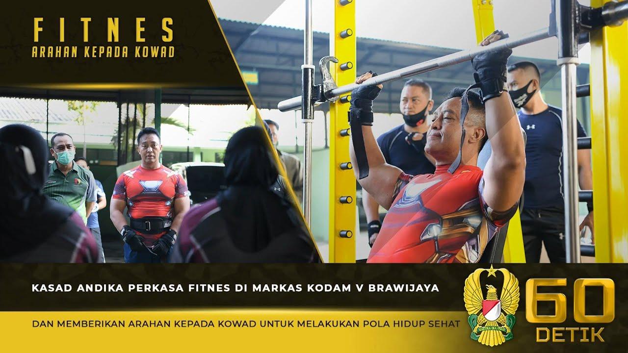 Kasad Fitnes di Makodam V Brawijaya dan Memberikan Arahan Menjaga Pola Hidup Sehat