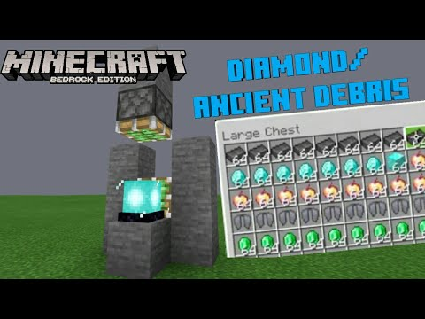 Minecraft Bedrock 1.16 Tutorial: NEW INFINITE DIAMONDS U0026 ANCIENTS DERBIS MACHINE | MCPE,SWITCH,XBOX