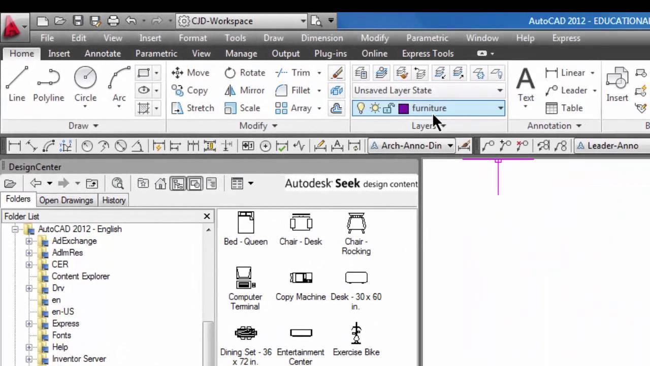 autocad add blocks using the design center 39 youtube