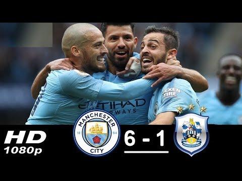 Manchester City vs Huddersfield 6 -1 Premier League 19/08/2018
