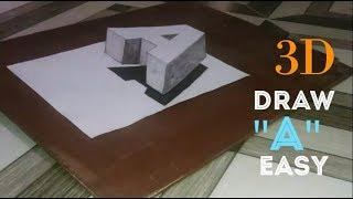 How to Drawing 3d letter