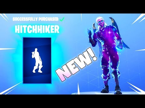 A New Dance emote Arrived! HITCHHIKER! (New item shop) Fortnite Battle Royale thumbnail
