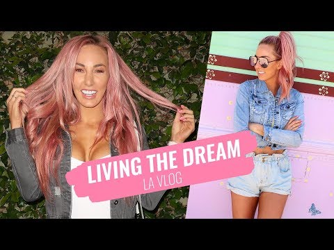 Living the dream , celebrities, Facing a fear and lots of cocktails - LA LIVING / VLOG