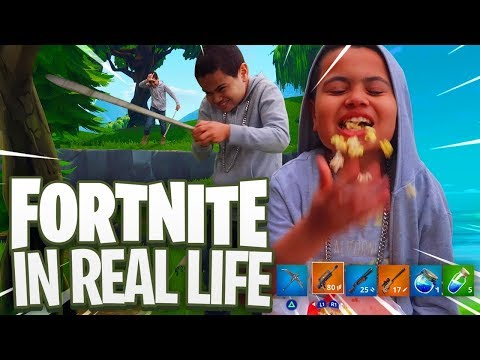 FORTNITE in REAL LIFE!!!  FAMILY VLOG FT JAYDEN AND MAMA REZ! YOU WONT BELIEVE WHAT HAPPENED