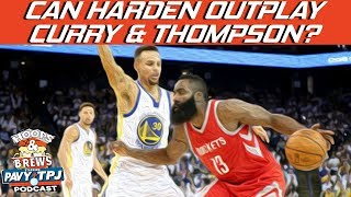 Can Klay & Steph Curry Outplay Harden? | Hoops N Brews