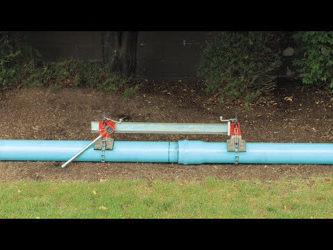 Plastic Pipe Joiner for Gasketed Pipe Demo - Reed Manufacturing