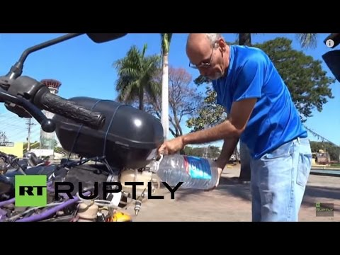 Brazil: This motorbike runs on WATER!