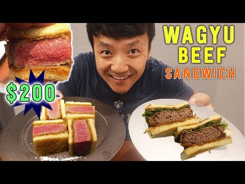 $200 KOBE BEEF Sandwich & MUST TRY Sandwiches in Tokyo Japan