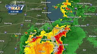 Heads up! severe storms could bring hail, high winds to chicago area - and even tornadoes southwest of the city. live radar/forecast: https://abc7.ws/2wz1hzz