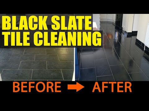 Cleaning Black Slate Tiles in Portsmouth