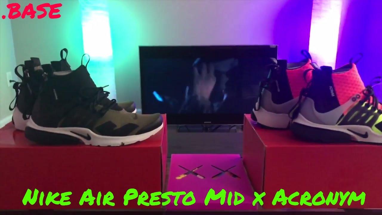 Nike Air Presto Mid Acronym Volt   Olive Review - YouTube e8e0f84b8