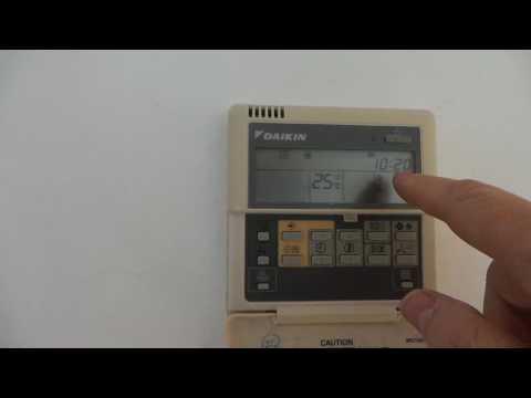 Controller Daikin BRC1D52. Ajustes básicos de usuario del controlador remoto.