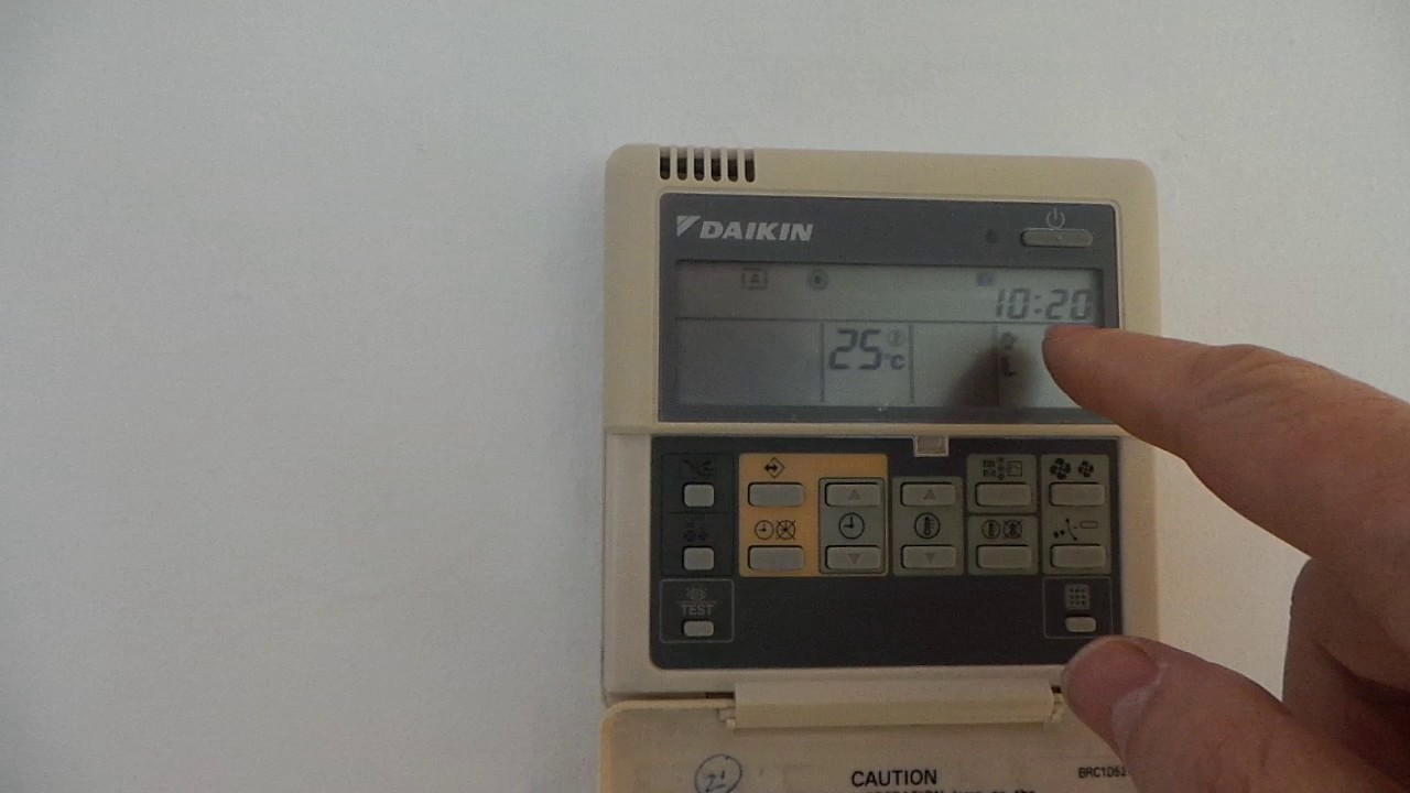 Controller Daikin BRC1D52  Basic user settings on the remote control