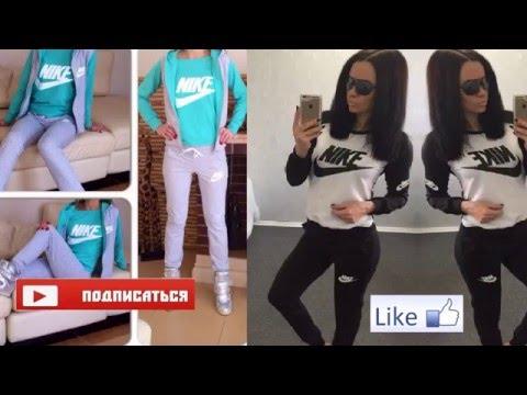 Vlog: Женская майка найк цвет бирюза, спорт. женск. костюм найк