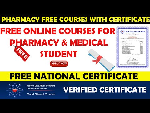 National Level Pharmacy Certificate   Free Online Course for Pharmacy & Medical Students