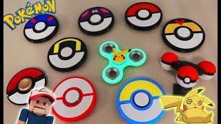 FIDGET Spinners POKEMON Top 10 Rare Unique Pokeball Toy Hand Tricks Hack GLOW IN DARK Ball Pikachu thumbnail