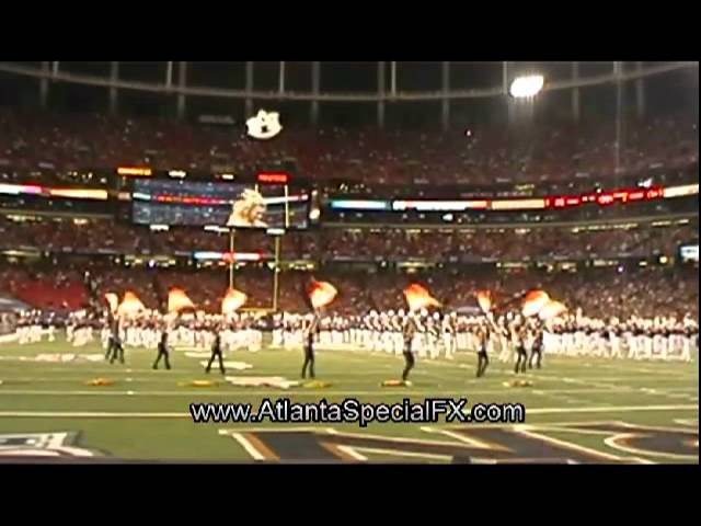 Cloudvertise® at 2011 Chick Fil Bowl - Floating 3D Logo Bubbles Auburn vs Virginia