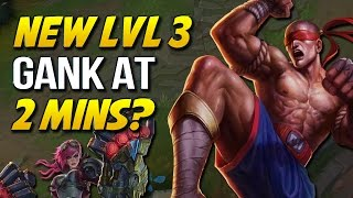 NEW LEVEL 3 GANK AT 2 MINUTES?? New Jungle EXP is Broken (League of Legends)